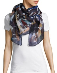 Echo Painted Print Scarf Multi Colored
