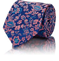 Penrose London Pheasant Necktie Blue