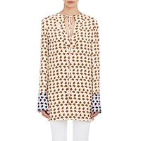 Derek Lam Crepe De Chine Tunic Shell Brown