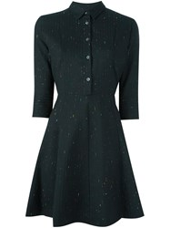 Paul Smith Ps By Stitch Detail Shirt Dress Black