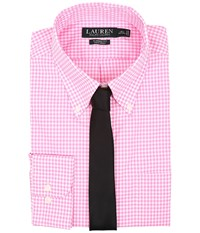 Lauren Ralph Lauren Classic Button Down With Pocket Dress Shirt Pink White Men's Long Sleeve Button Up