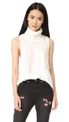 One Teaspoon Reno Wool Parisienne Roll Neck Top Winter White