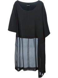 Lutz Huelle Sheer Panel Asymmetric Tunic Black