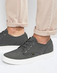 Farah Vintage Canvas Plimsolls Grey Black