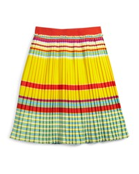 Little Marc Jacobs Pleated Crepe A Line Skirt Multicolor