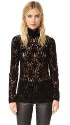 Dkny Velvet Lace Turtleneck Black