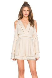 Finders Keepers Unravel Playsuit Cream