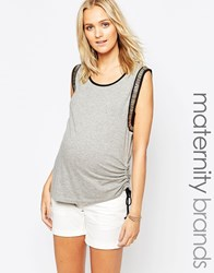 Ripe Maternity Embellished Shell Top Silver