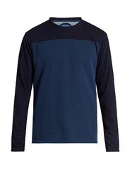 Blue Blue Japan Contrast Yarn Dyed Cotton Jersey Sweatshirt Navy