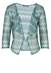 Vera Mont Printed Short Waterfall Front Jacket Multi Coloured