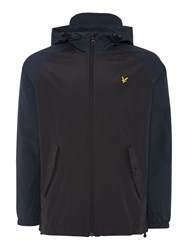 Lyle And Scott Contrast Sleeve Hooded Anorak Black Multi