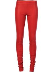 Stouls Leather Leggings Red