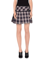Maison Espin Mini Skirts Blue