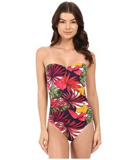 Tommy Bahama Remy V Front Bandeau Cup One Piece Multicolor Women's Swimsuits One Piece