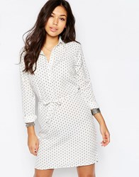 Vila Polka Dot Shirt Dress White Print