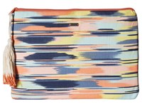 Roxy Hello Again Wallet Ikat Pattern New Combo Chambray Wallet Handbags Multi