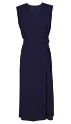 Tibi Savanna Crepe V Neck Wrap Dress