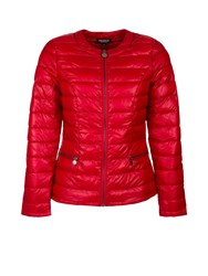 Morgan Feathers Filling Down Jacket Red