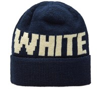 White Mountaineering Big Logo Beanie Blue