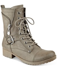 G By Guess Brylee Lace Up Combat Booties Women's Shoes Wild Dove