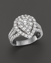 Bloomingdale's Diamond Pear Shape Ring In 14K White Gold 2.0 Ct. T.W.
