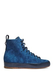 Feit Hand Sewn Super High Suede Sneakers Blue