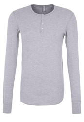 American Apparel Baby Thermal Long Sleeved Top Heather Grey Mottled Grey