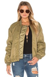 Maison Scotch Lightweight Bomber Jacket Army