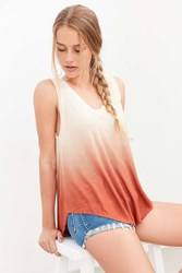 Silence And Noise Silence Noise Dip Dye Tent Tank Top Red Multi