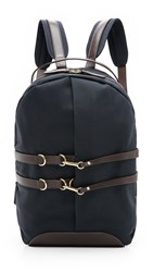 Mismo M S Sprint Backpack Navy Dark Brown