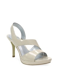 Tahari Bounty Slingback Platform Sandals Natural