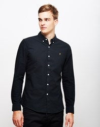Farah Brewer Slim Long Sleeve Shirt Black