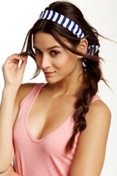 Finest Accessories Striped Wire Headwrap Blue