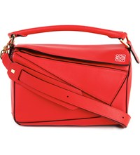 Loewe Puzzle Multi Function Leather Bag Primary Red