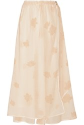 Band Of Outsiders Printed Stretch Silk And Cotton Blend Maxi Skirt White