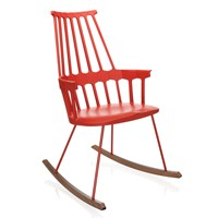 Kartell Comback Rocking Chair Orangy Red