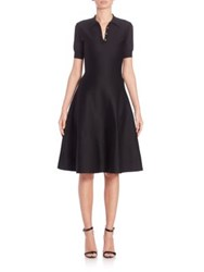 Ralph Lauren Short Sleeve Fit And Flare Silk Polo Dress