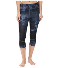Adidas Supernova 3 4 Tights Tech Ink Print Tech Ink Women's Workout Blue