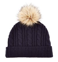 Hobbs Thea Cable Hat Navy