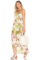 Pink Stitch Resort Maxi Dress Green