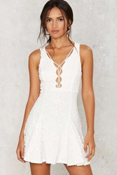 Nasty Gal Malia Crochet Lace Up Dress