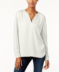Inc International Concepts Dolman Sleeve Split Neck Top Only At Macy's Windsor White