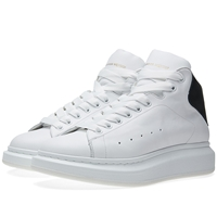 Alexander Mcqueen Oversized Sole Mid Top Sneaker White And Bottle Green