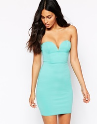 Oh My Love Bandeau Bodycon Dress Mint
