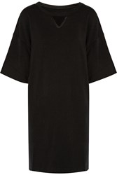 Y 3 Stretch Jersey And Satin Tunic Black