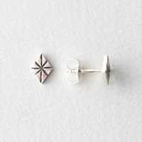 In God We Trust Polaris Studs Silver