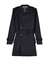 Aquascutum London Corby Double Breasted Raincoat Navy