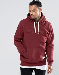 Criminal Damage Hoodie With Logo Red