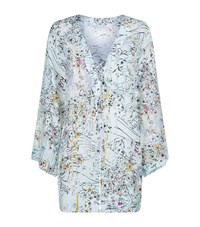 Shan V Neck Long Sleeve Kaftan Female Multi