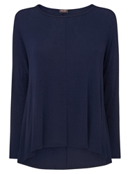 Phase Eight Dory Dip Hem Top Navy